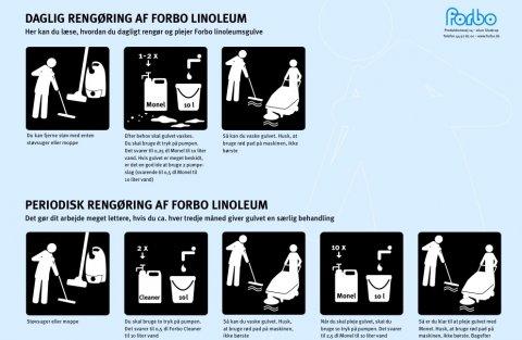 Rengøring af linoleumsgulve
